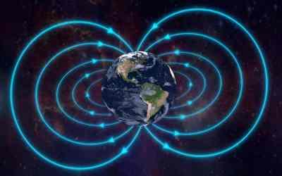 Debilitación del campo magnético de la Tierra