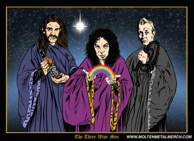 Heavy Metal Heros Christmas Cards Dravens Tales From The
