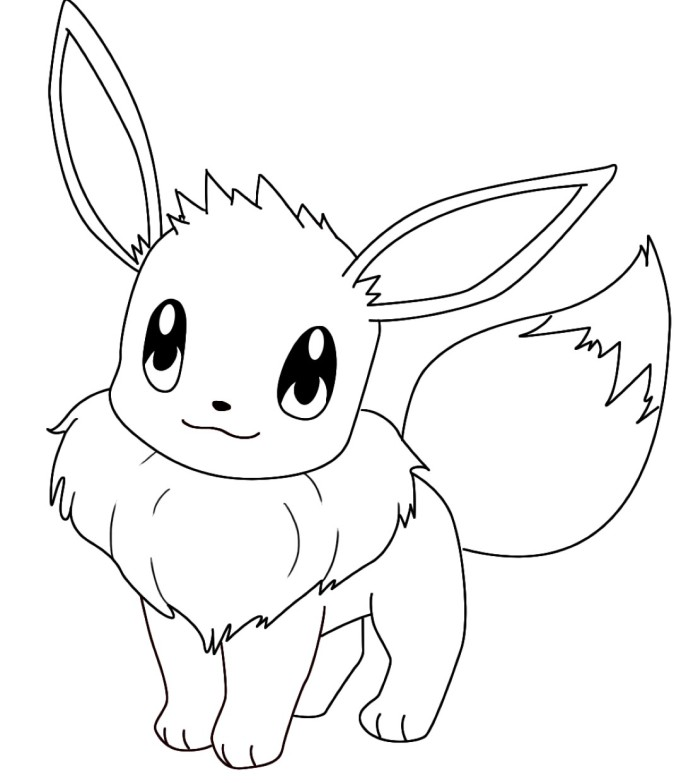 cute eevee evolutions coloring pages coloring pages