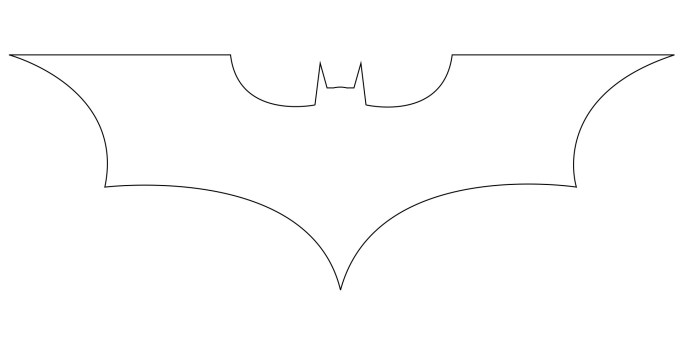 Line Drawing Logo : How to draw the batman logo central