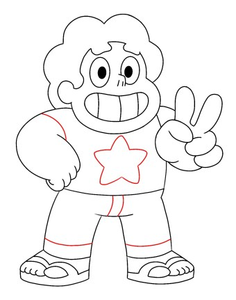 How To Draw Steven Universe Step 11