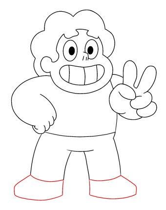 How To Draw Steven Universe Step 9