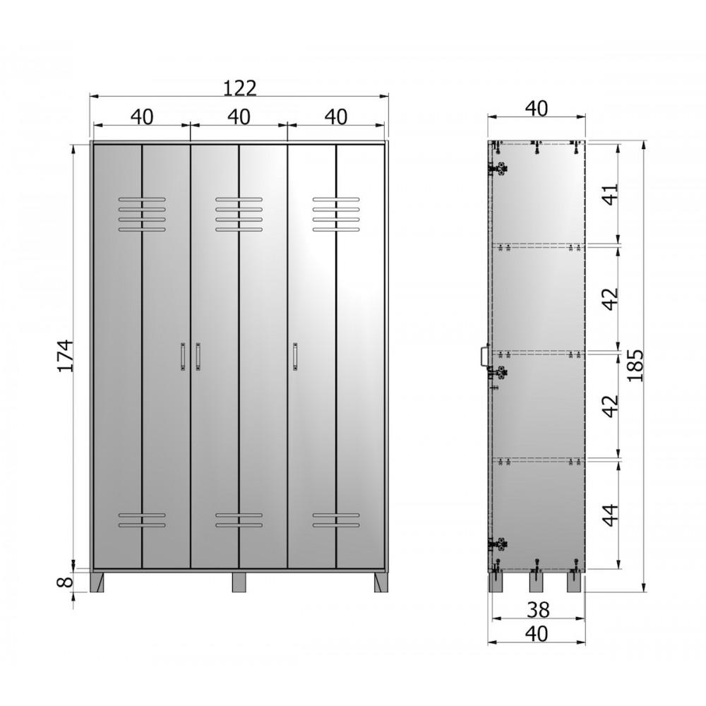 armoire 3 portes en pin nicolet