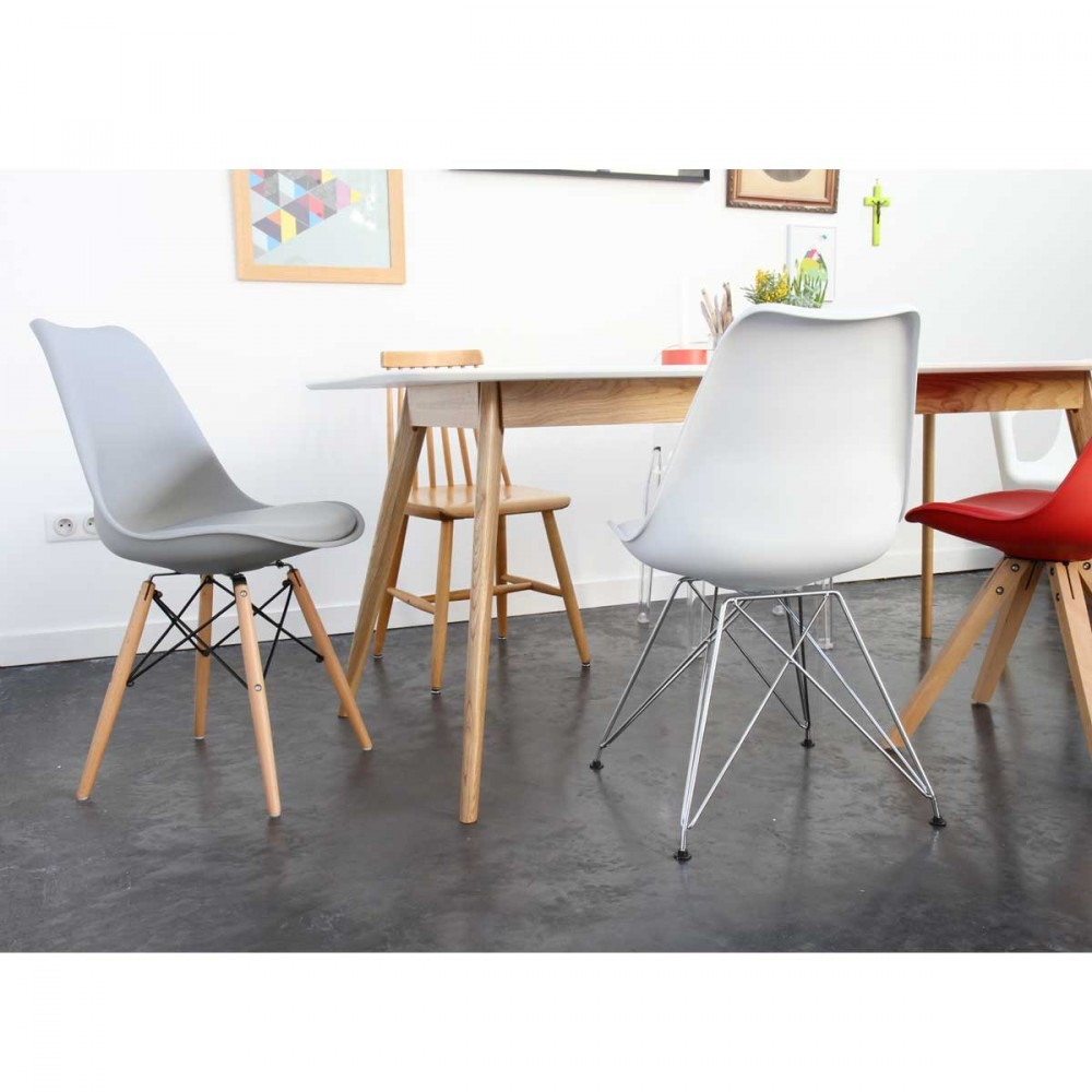 Lot De 2 Chaises Design Ormond SteelWood Style DSW Par
