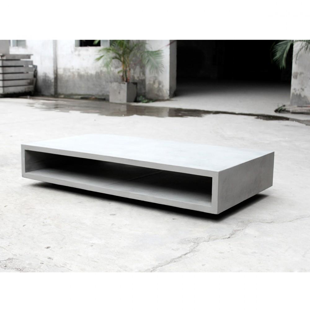 table basse rectangulaire beton xl lyon beton monobloc