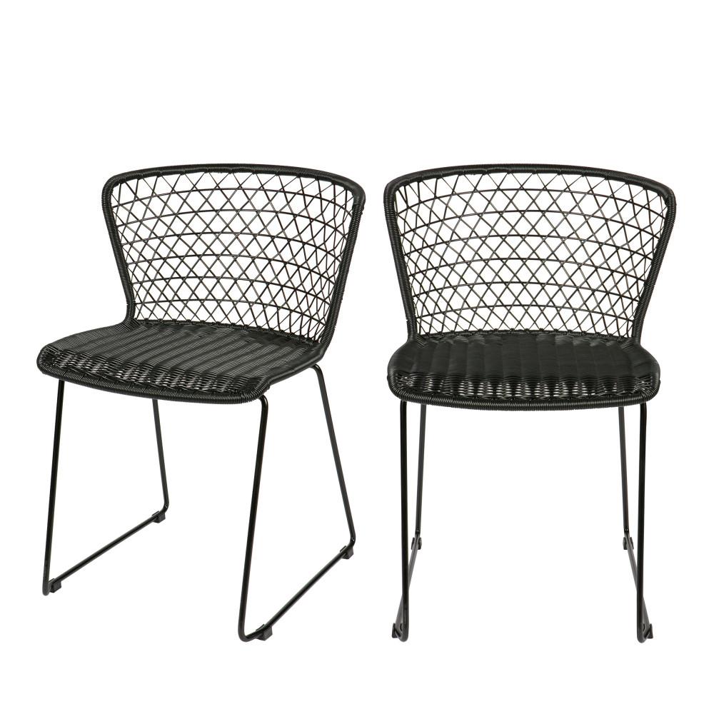 Chaises de jardin en corde x2 Quadro  Drawer
