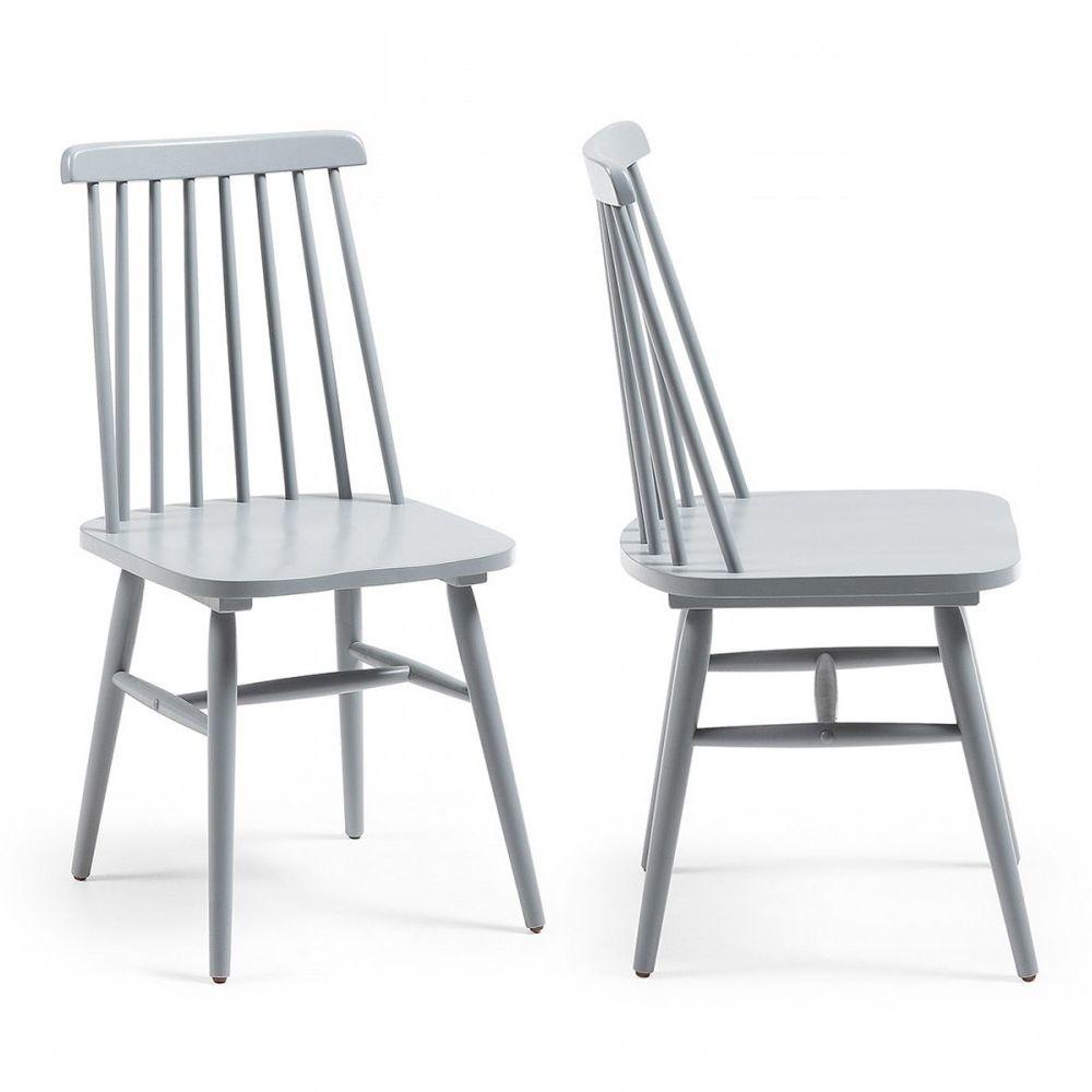 tressia 2 chaises en bois vintage