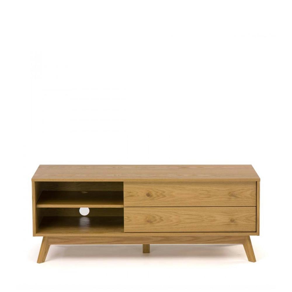 meuble tv design bois massif kensal