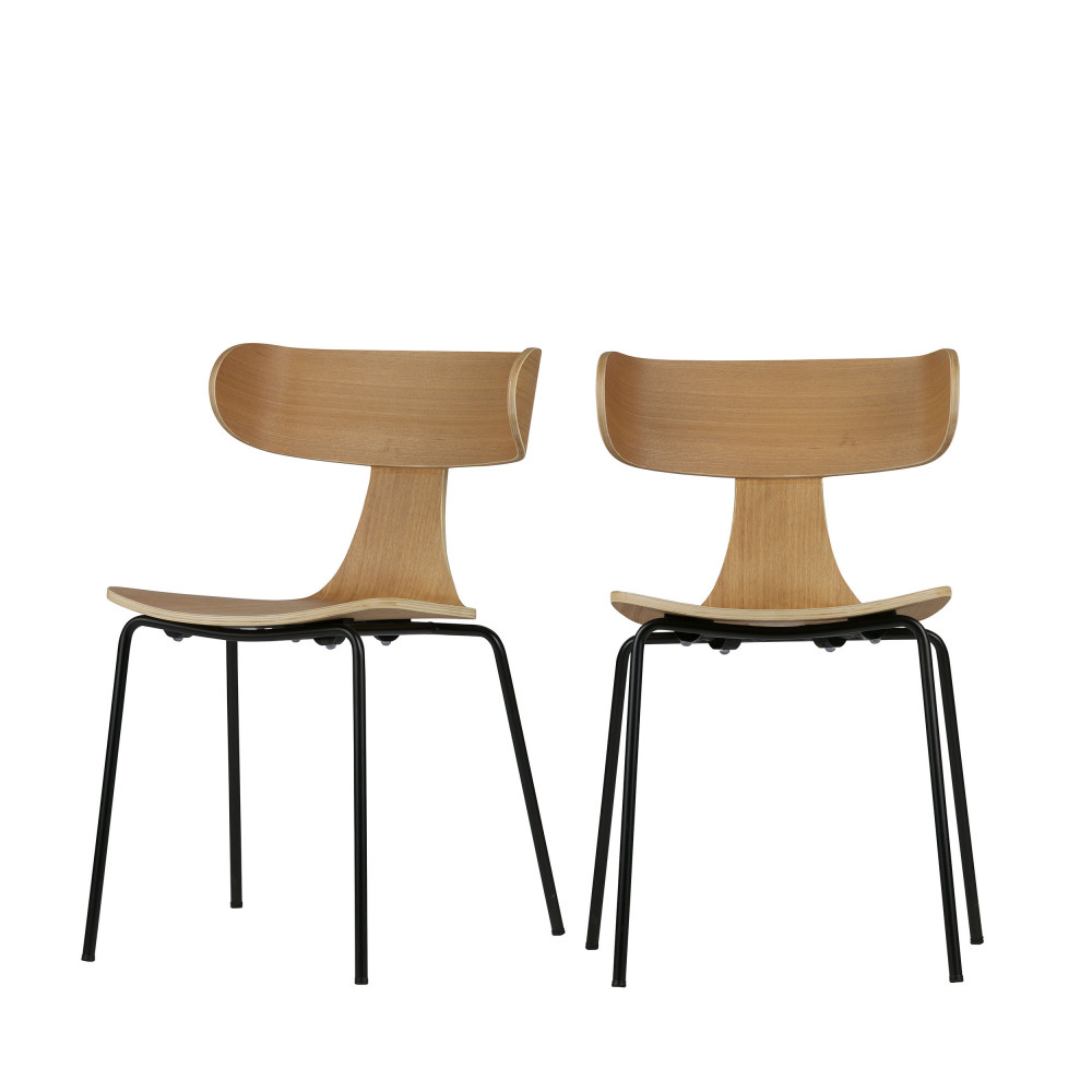2 chaises design empilables woood form