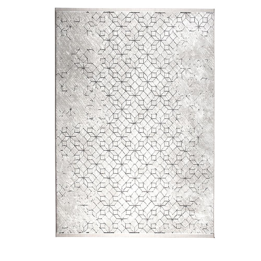 tapis motifs geometriques noir et blanc zuiver yenga
