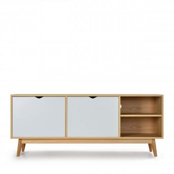 strom meuble tv design 2 portes chene