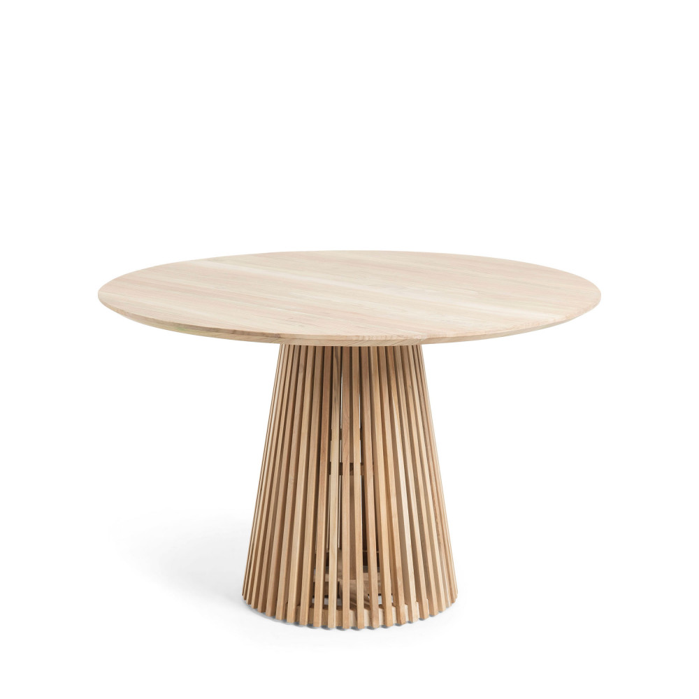 table a manger ronde teck o120cm jeanette
