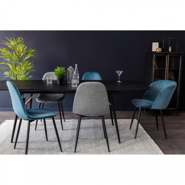 vitikko 2 chaises en velours et pieds noirs