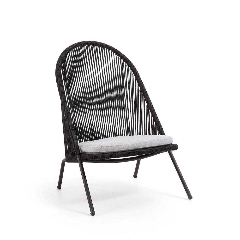 fauteuil de jardin en metal et corde villada