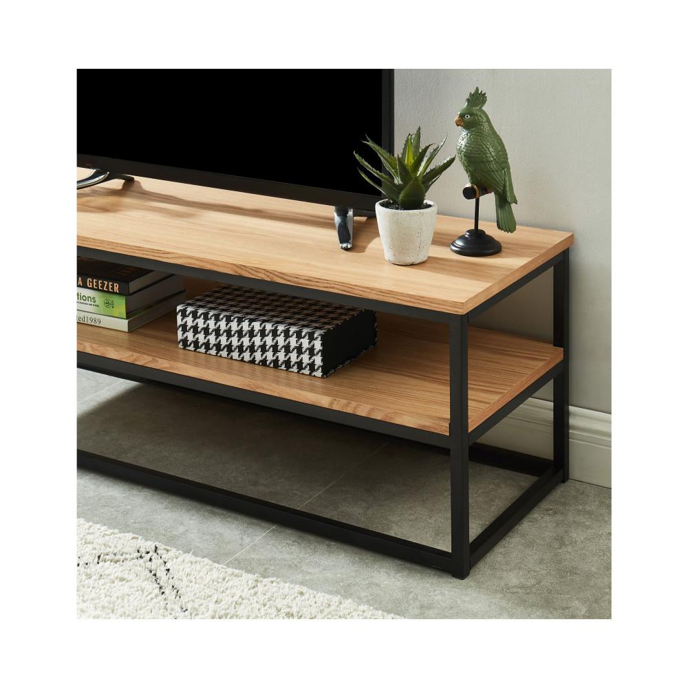 meuble tv industriel en bois et en metal ivica