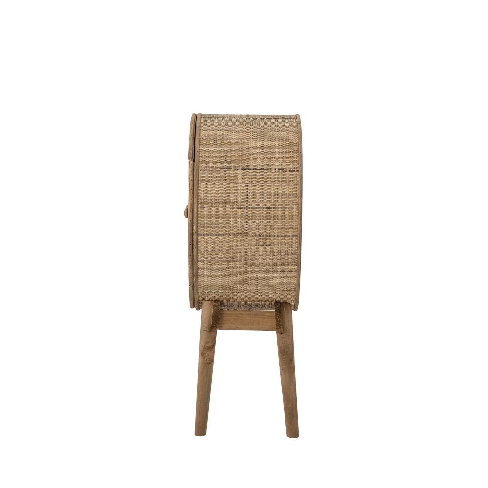 meuble de rangement rond en bois et cannage bloomingville otto