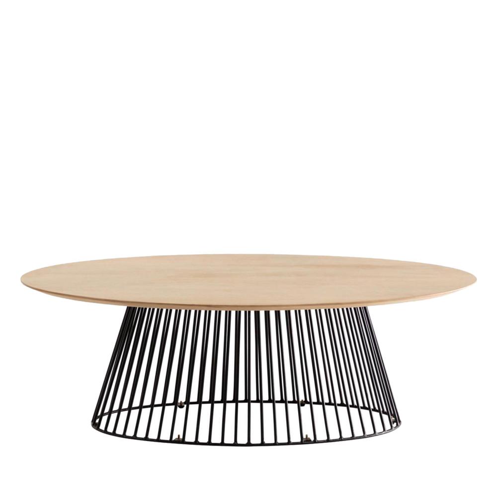 table basse ovale 120x65cm villariva