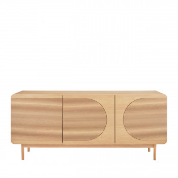 lumanda buffet design 3 portes en bois