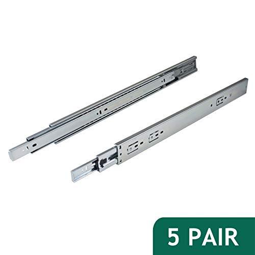 "Pair of Full-Extension Ball Bearing Zinc Drawer Slide 12-22/"" 100lb Load Capacity"