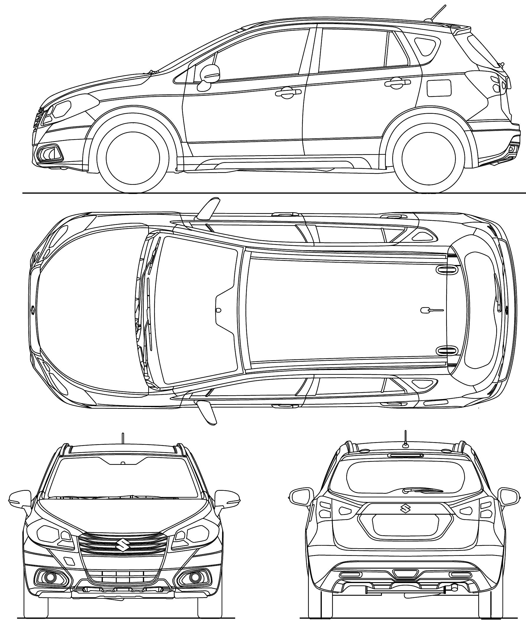 Suzuki Sx4 S Cross Blueprint