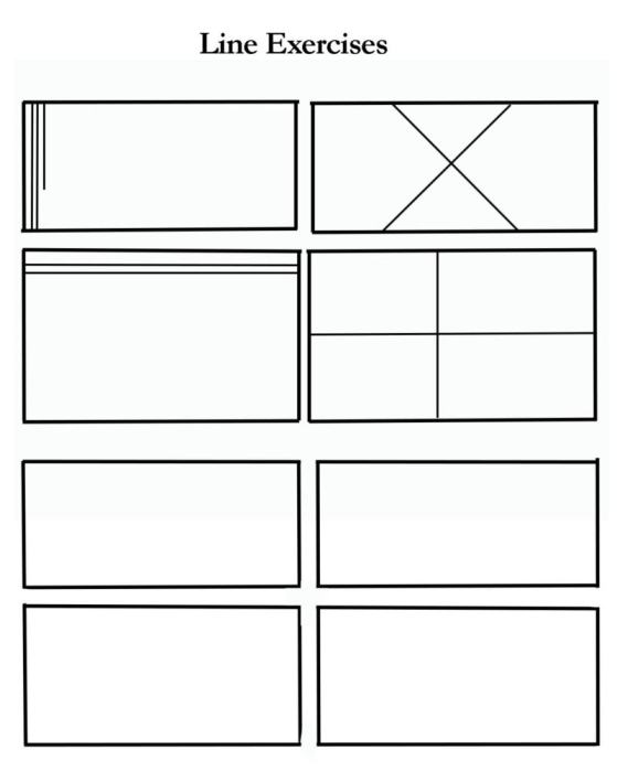 drawing exercises line, blank