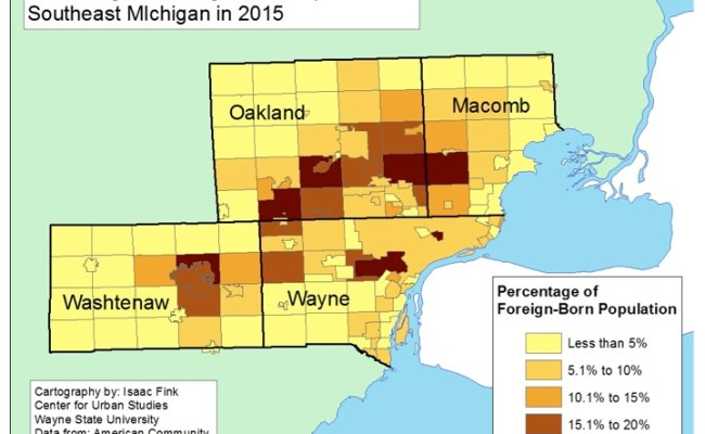 Oakland Washtenaw Counties Have Highest Foreign Born Populations In Southeastern Michigan
