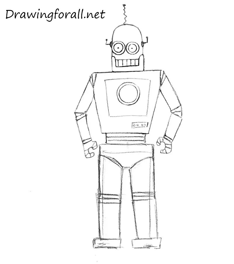 Two eyes are better than one, especially when it comes to depth perception. How to Draw a Robot for Kids