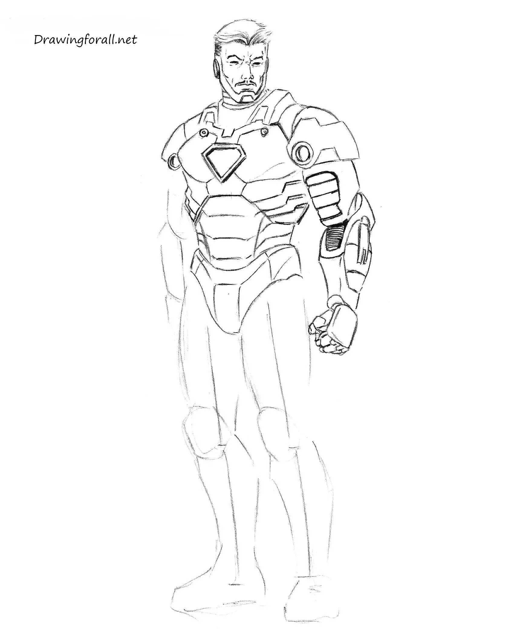 easy art sketches auto electrical wiring diagram  how to draw iron man step by step