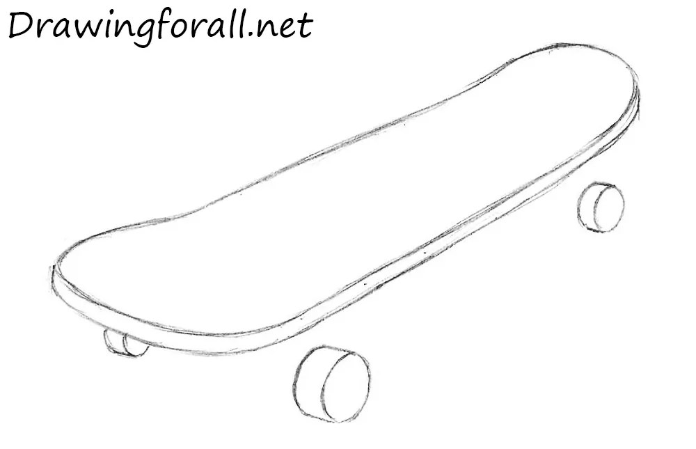 Easy Coloring Page Skateboard Deck Coloring Pages