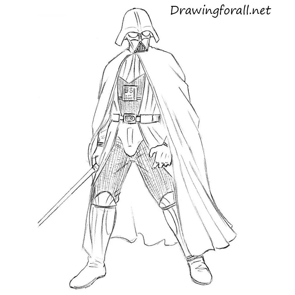 How to Draw Darth Vader  Drawingforallnet
