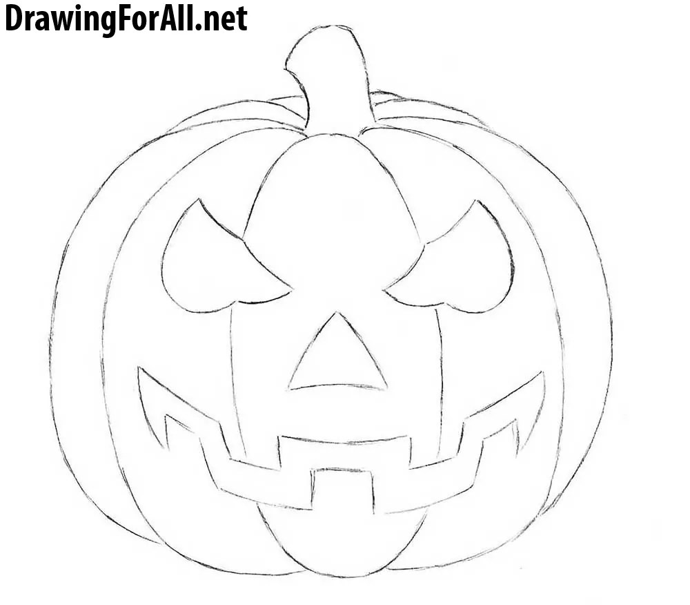 Drawing Pumpkins For Halloween Auto Electrical Wiring Diagram Pumpkin Related With Jvc R330