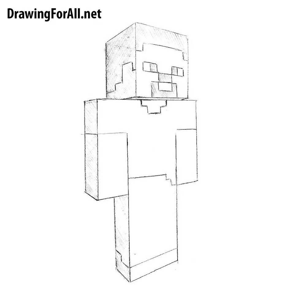 Image of: Steve How To Draw Steve From Minecraft Drawingforallnet How To Draw Steve From Minecraft Drawingforallnet