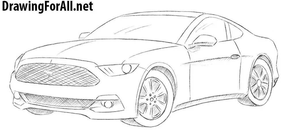 Easy To Draw Mustang Car