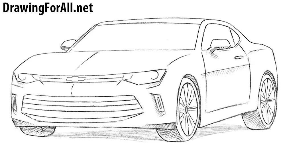 How To Draw A Chevrolet Camaro Drawingforall Net