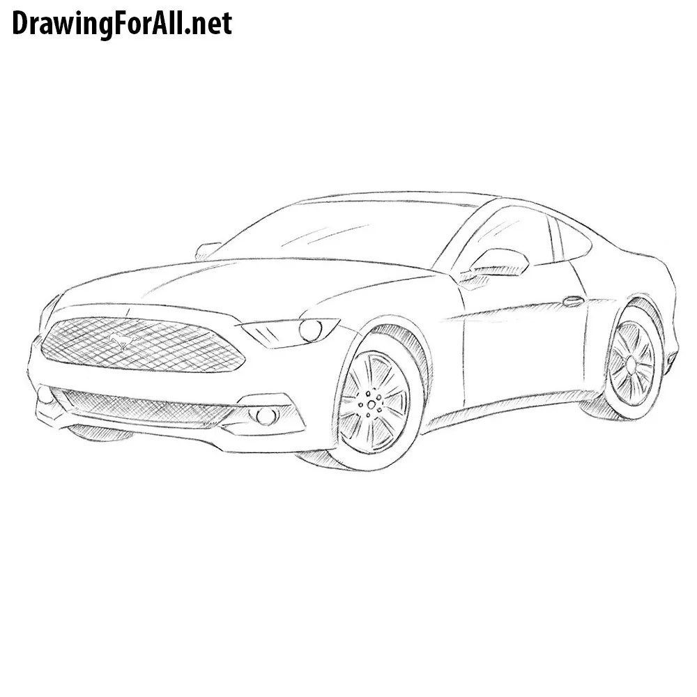 Ford Mustang Logo Outline. Perfect Ford Car Clipart