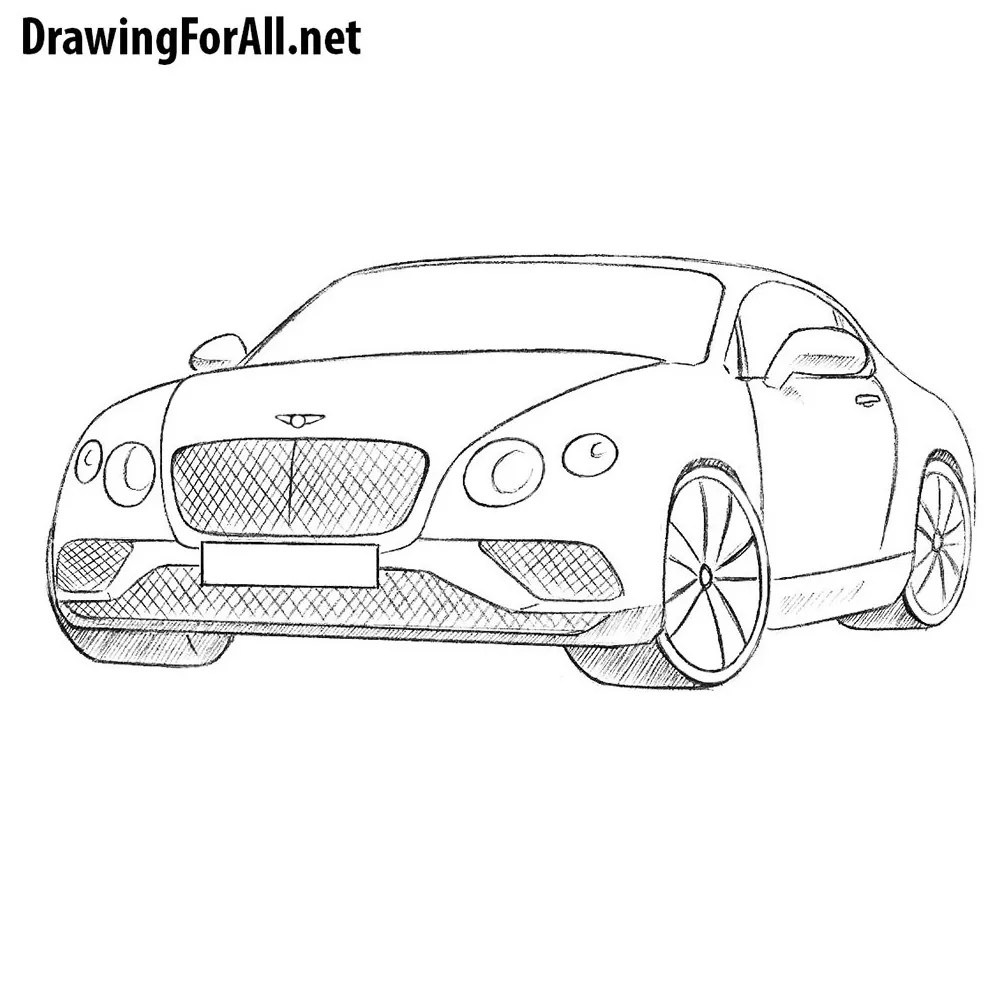 Bentley Continental Coloring Pages Sketch Coloring Page