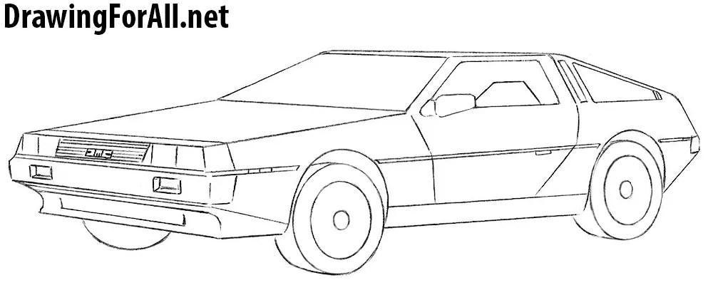 List of Synonyms and Antonyms of the Word: delorean drawing