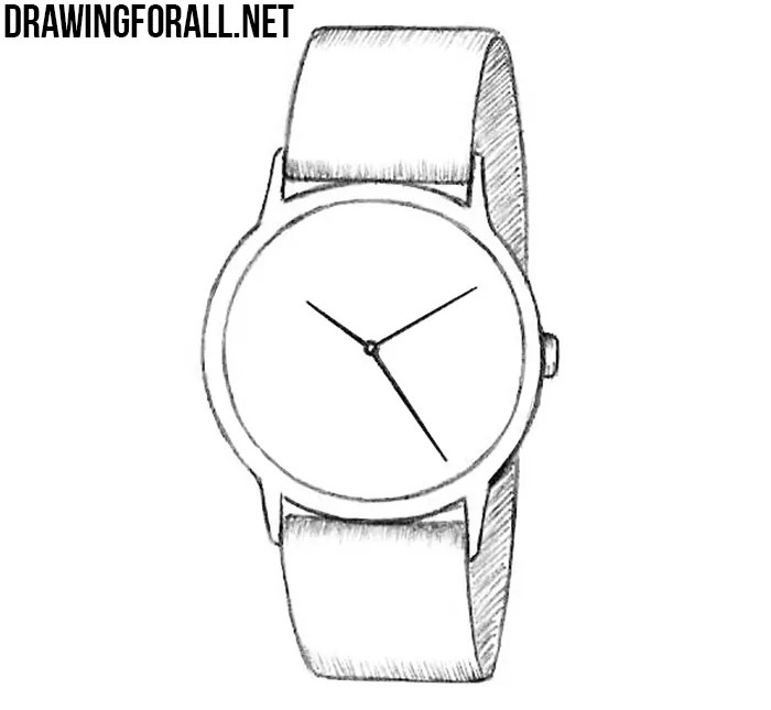 How to Draw a Watch   Drawingforall.net