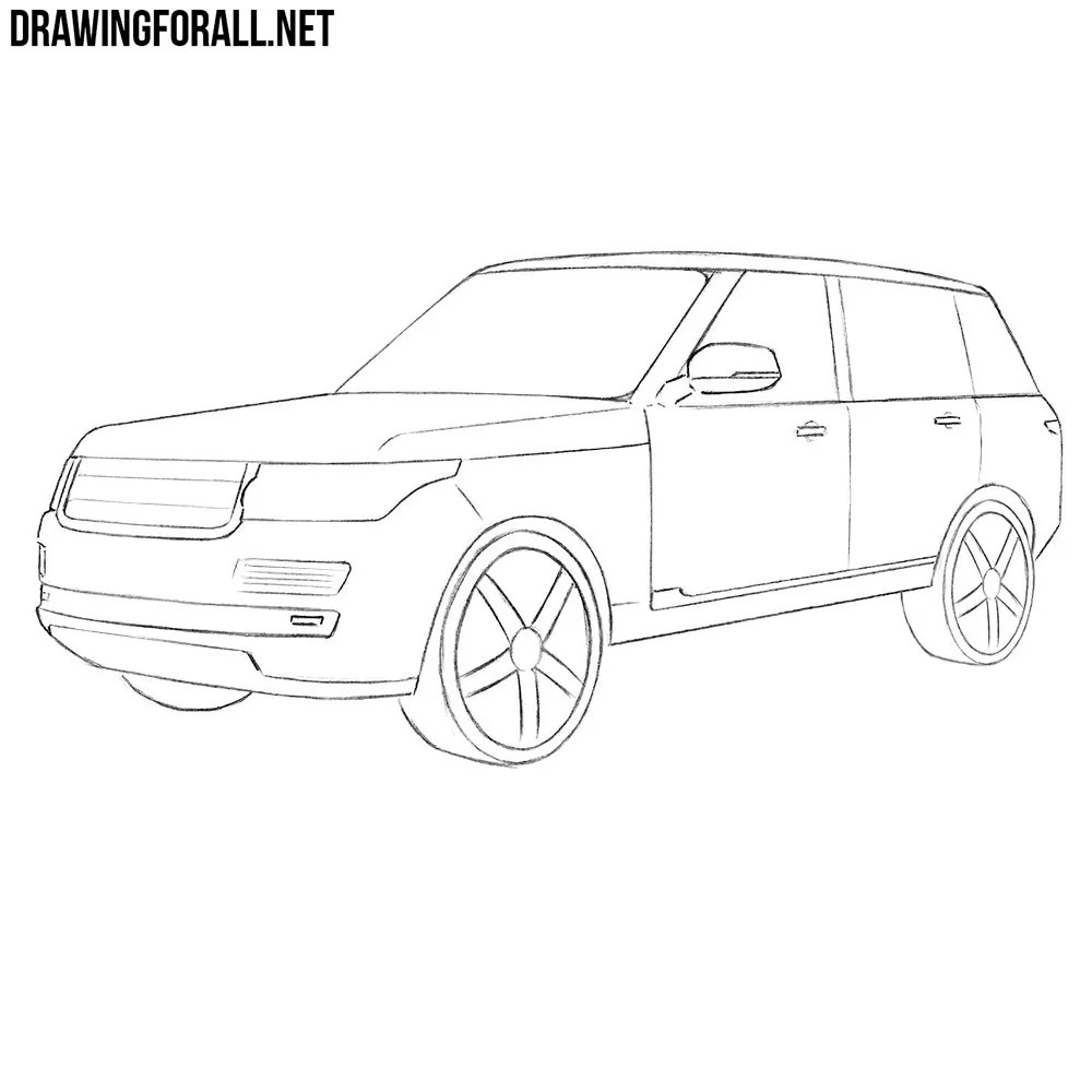 Drawing For All — How to Draw a Range Rover