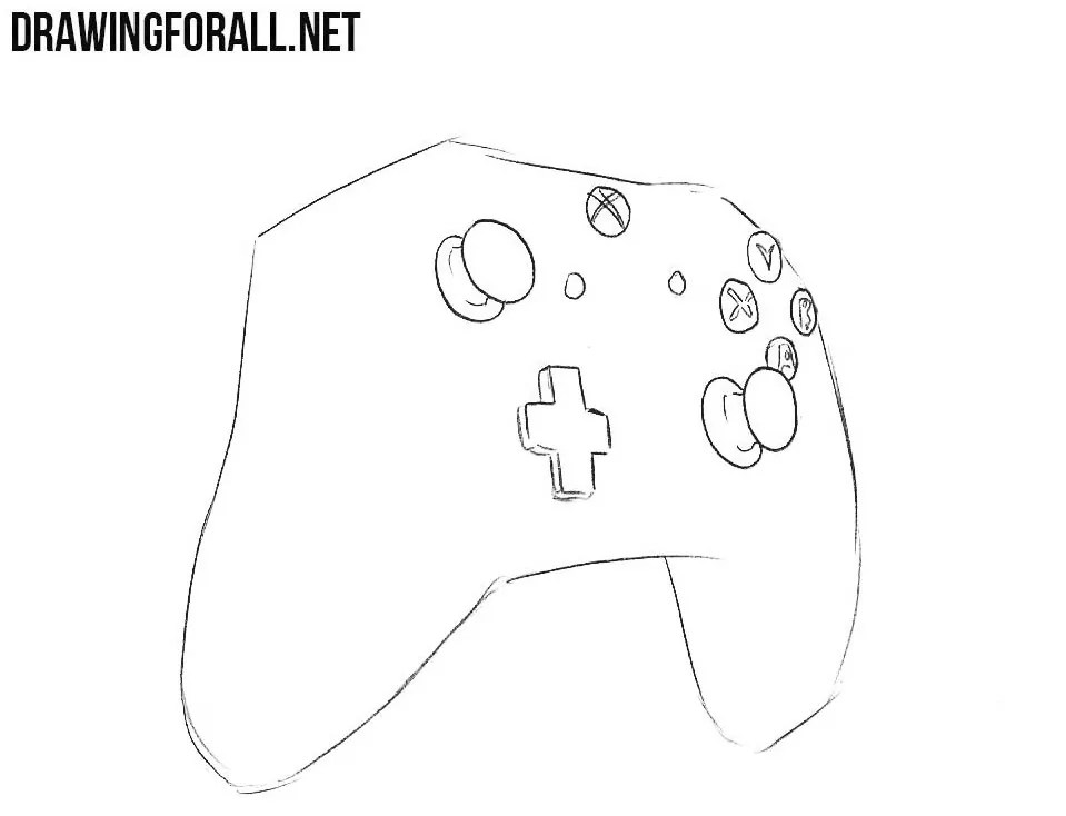 How To Draw A Xbox 1 Controller