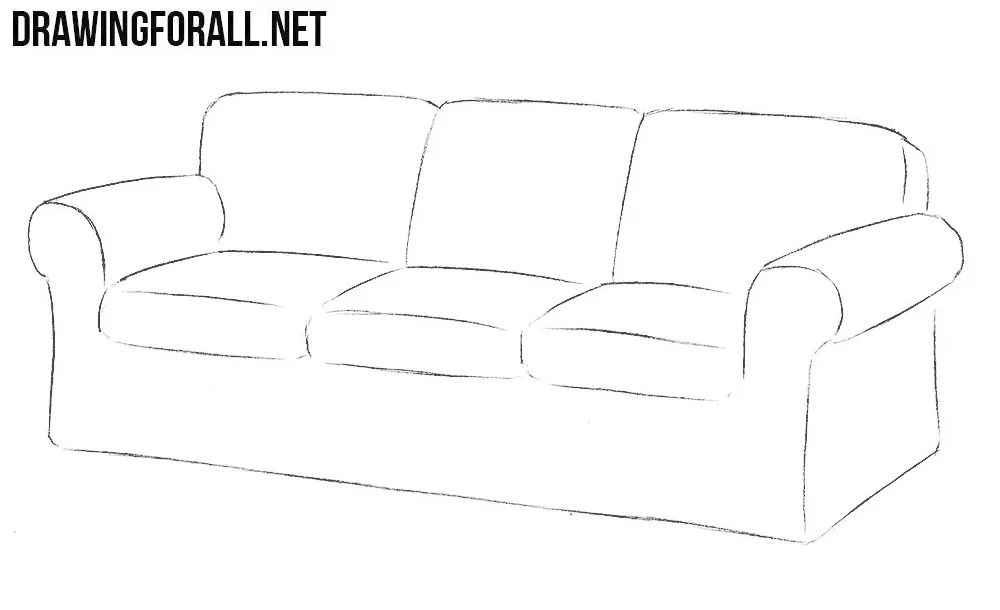 How to Draw a Couch  Drawingforallnet