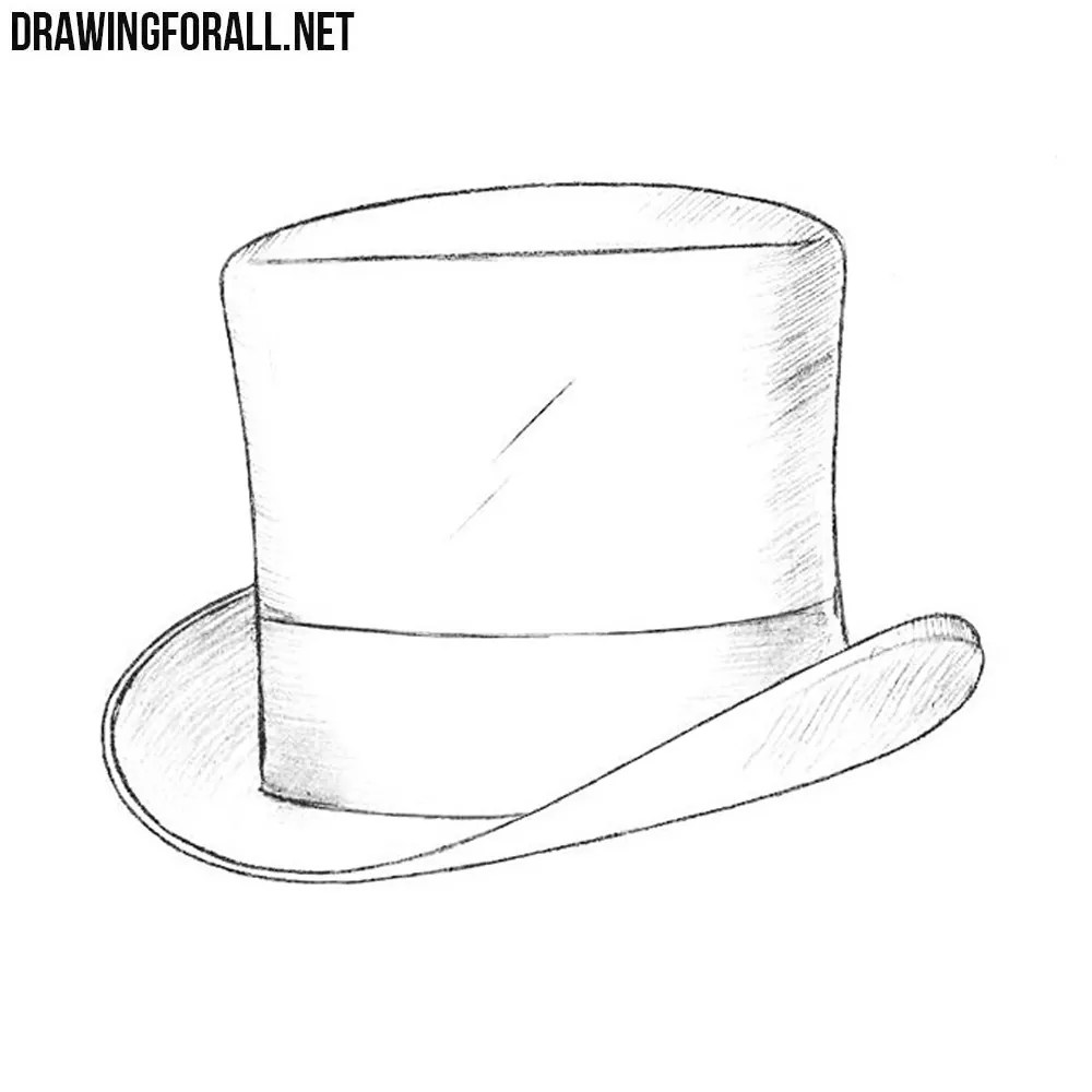 How to Draw a Top Hat  Drawingforallnet