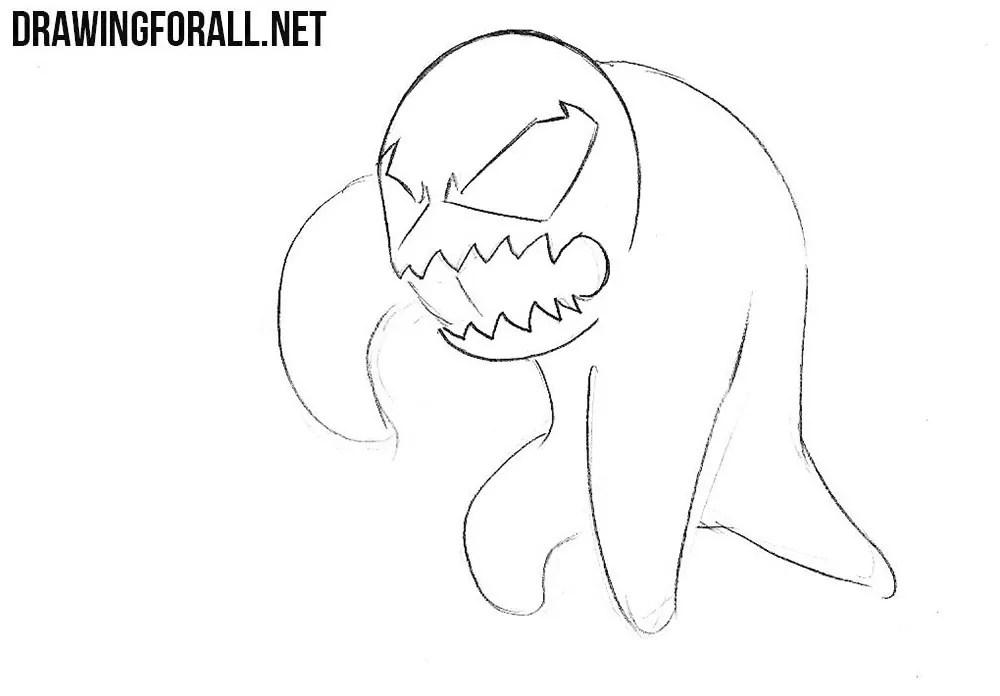 How Draw Venom Step Step