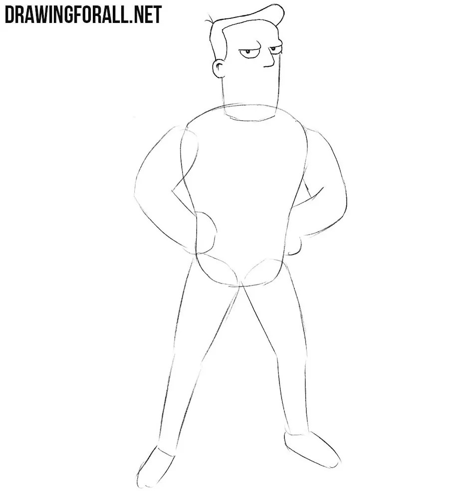 How to Draw Zapp Brannigan  Drawingforallnet