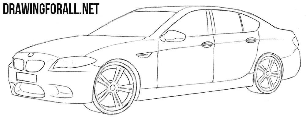 Bmw M5 Drawing