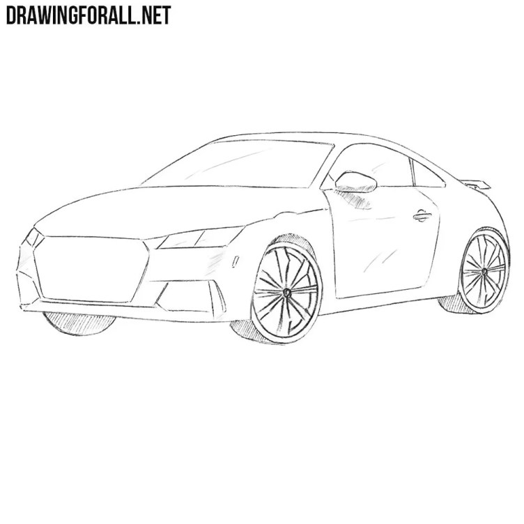 How to Draw a Coupe Car | Drawingforall.net