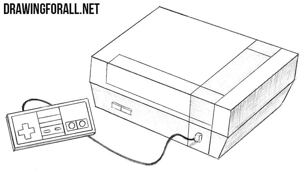 Nintendo Controller Drawing Sketch Coloring Page