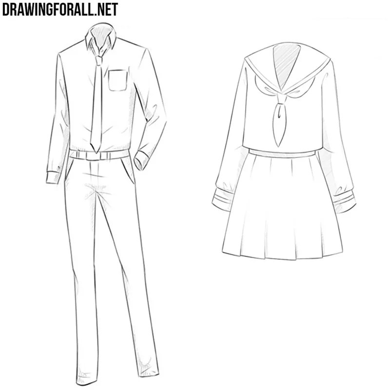How To Draw Anime Clothes Drawingforall Net