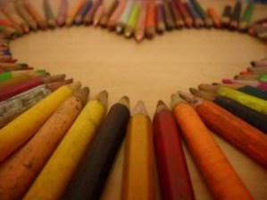 Drawing for Kids Heart Pencils