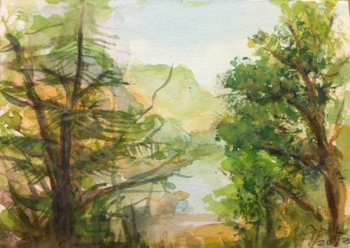 Drawing for Kids - Tulloch Watercolor Landscape Painting